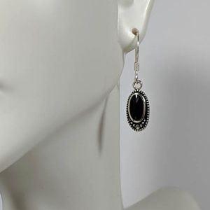 Jewelry - Black Sterling Marcascite Earrings